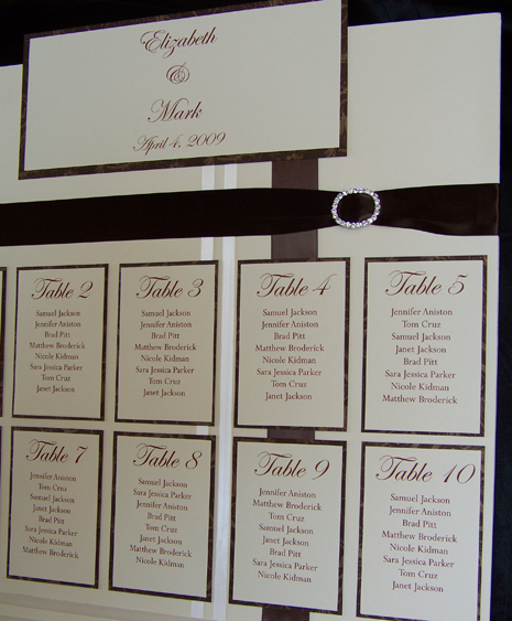 Printable Seating Chart For Wedding Reception: In So Many Words - Wedding